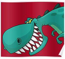 Sneaky Dinosaur Poster
