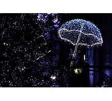 Christmas Lights in Oxford St. Photographic Print