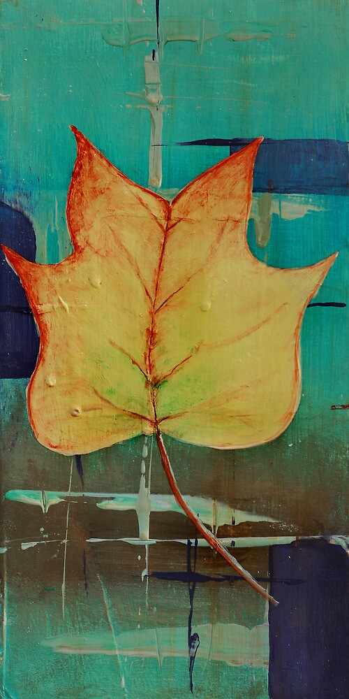 Poplar Leaf Abstract 2 of 2 by Gray Artus
