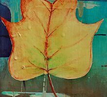 Poplar Leaf Abstract 2 of 2 by GrayA