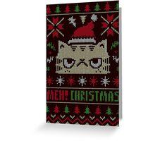 MEH! CHRISTMAS- Meow Christmas !! Greeting Card
