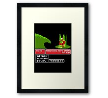 THE GOGGLES DO NOTHING Framed Print