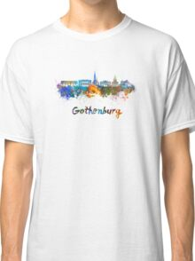 Gothenburg skyline in watercolor Classic T-Shirt