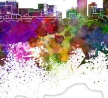 Grand Rapids skyline in watercolor background Sticker