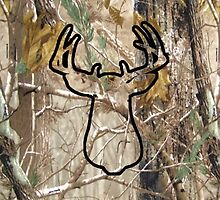 All Camo Buck Iphone Case by vehrtical