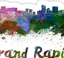 Grand Rapids skyline in watercolor Sticker