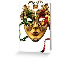 beautiful Lady with Mask Greeting Card