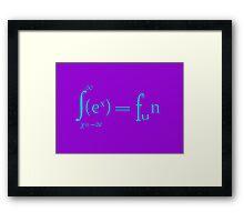 Sex equals fun mathematics symbols  Framed Print