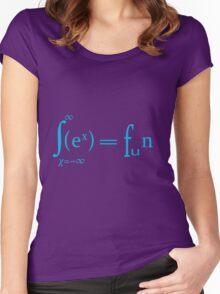 Sex equals fun mathematics symbols  Women's Fitted Scoop T-Shirt