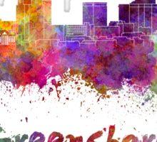 Greensboro skyline in watercolor Sticker