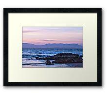 A Pastel Pink Sunset Framed Print