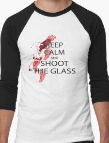Die Hard Keep Calm and Shoot the Glass Men's Baseball ¾ T-Shirt