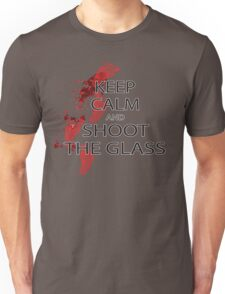Die Hard Keep Calm and Shoot the Glass Unisex T-Shirt