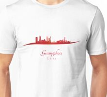 Guangzhou skyline in red Unisex T-Shirt