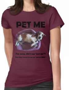Doggie Womens Fitted T-Shirt