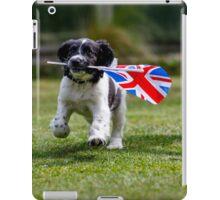 English Springer Spaniel Puppy with flag iPad Case/Skin