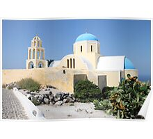 Church on a Bright Afternoon, Oia, Santorini Poster
