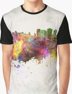 Halifax skyline in watercolor background Graphic T-Shirt