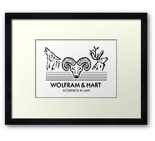 Wolfram & Hart: Attorneys at Law Framed Print