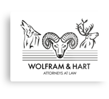 Wolfram & Hart: Attorneys at Law Metal Print