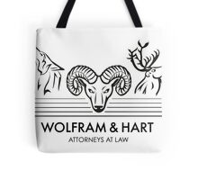 Wolfram & Hart: Attorneys at Law Tote Bag