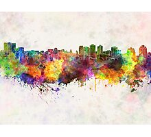 Halifax skyline in watercolor background Photographic Print