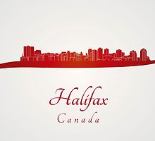 Halifax skyline in red by paulrommer
