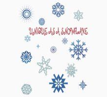 Unique As A Snowflake Kids Clothes
