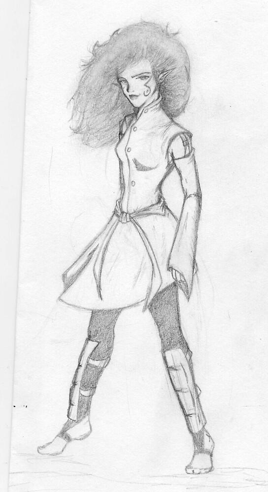 Japanese Sorceress by Viqqe