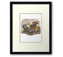 Theraputic Dalek Framed Print