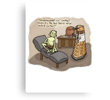 Theraputic Dalek Canvas Print
