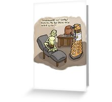 Theraputic Dalek Greeting Card