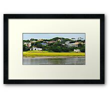 Digi Painted River Living Scene Framed Print