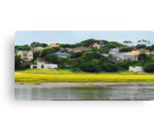 Digi Painted River Living Scene Canvas Print