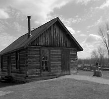 Chippewa Nature Center - Homestead Farm Log Schoolhouse by Francis LaLonde
