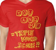 Triple Word Score (Yellow) Mens V-Neck T-Shirt