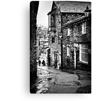 Sheila's Cottage in Ambleside, Lake District, in monochrome Canvas Print