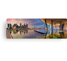 Singapore - Reflections of a City Canvas Print