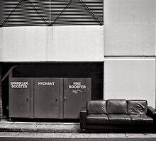 Seat by the fire (hydrant) - Brisbane - Australia by Norman Repacholi