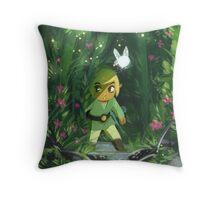 Legend of Zelda- Forest Link Throw Pillow