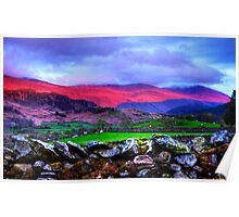 The colours of the Lake District at sunset, Keswick, UK Poster