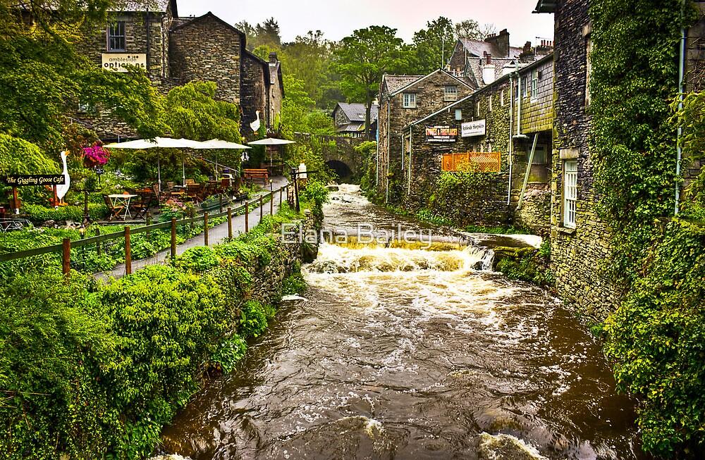 Water flowing at Ambleside, Lake District, UK by Elana Bailey