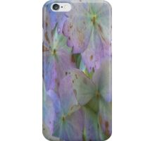 Purple And Green Hydrangeas iPhone Case/Skin