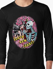 Love to Death Tattoo Flash Long Sleeve T-Shirt
