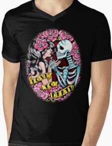 Love to Death Tattoo Flash Mens V-Neck T-Shirt