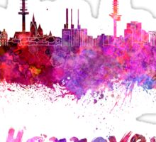 Hannover skyline in watercolor Sticker