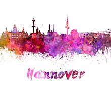 Hannover skyline in watercolor by paulrommer
