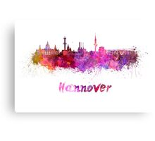 Hannover skyline in watercolor Canvas Print