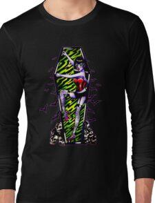 Pin Up Ghouls - Vampire Girl Long Sleeve T-Shirt