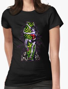 Pin Up Ghouls - Vampire Girl Womens Fitted T-Shirt